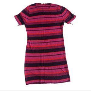 Trina Turk Mini Dress Tunic Size L Short Sleeve